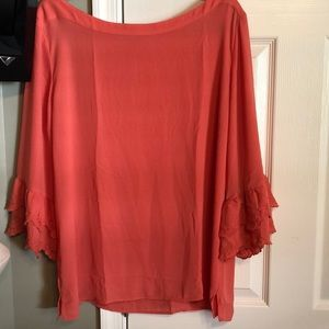 LOFT Outlet Coral Bell sleeve blouse XL